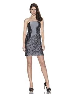Suzi Chin Women's Embellished Strapless Dress (Pewter)