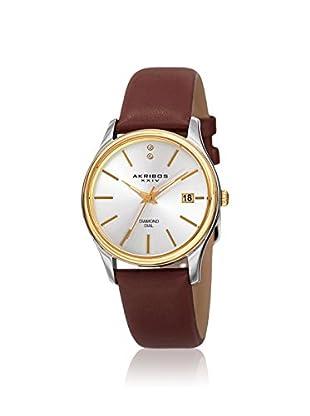 Akribos XXIV Women's AK879BR Velvet Brown Leather Watch