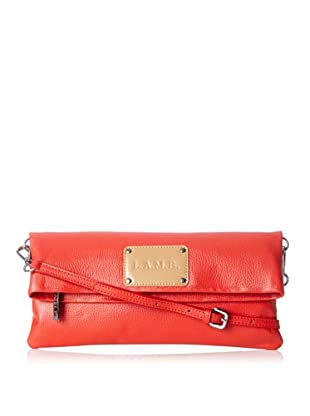 L.A.M.B. Women's Barri Cross-Body Fold Over, Red