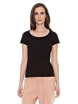 Cortefiel Camiseta Básica (Negro)
