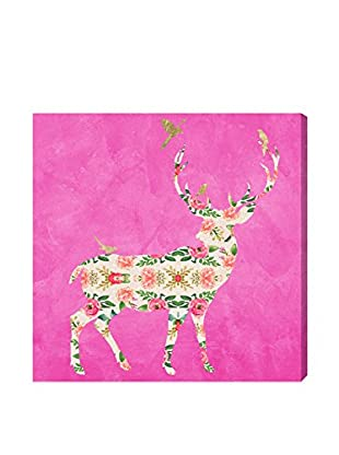 Oliver Gal Preppy Stag Canvas Art