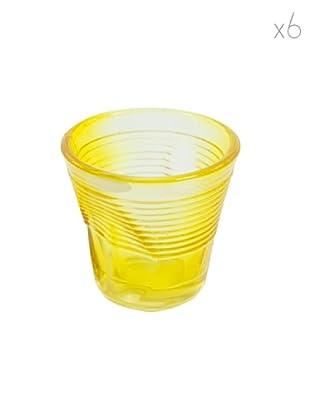 Kaleidos Set 6 Bicchieri Accartocciati 115 ml (Giallo)