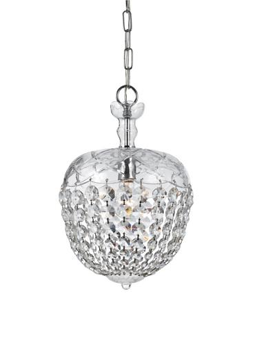 Gold Coast Lighting Crystal Drop Pendant, Chrome