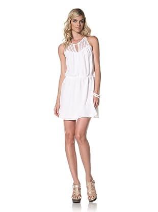 Central Park West Women's Bondi Beach Silk Dress (White)