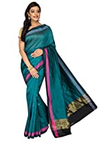 Korni Cotton Silk Banarasi Saree DS-1529- RamaGreen KR0470