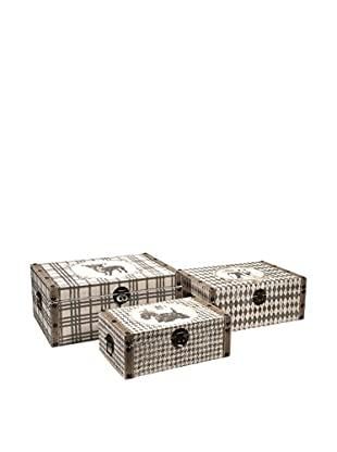 Set of 3 Dog-Themed Decorative Storage Boxes