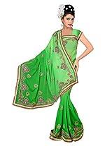A.V.Fashion Embroidered Saree (1004_Popati)