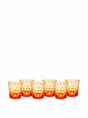 Impulse! Set of 6 Melrose Rocks Glasses, Orange