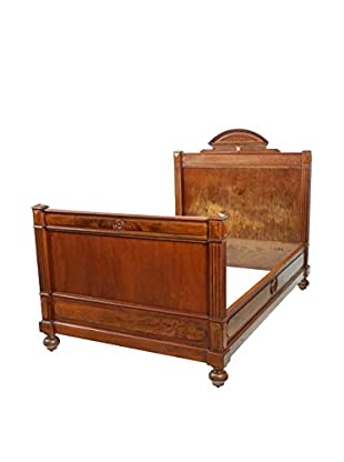 19th-C. Empire-Style French Bed, Wood