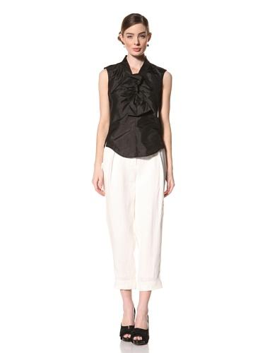 Magaschoni Women's Linen Pants (Talc)