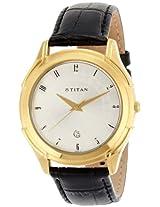 Titan Classique Analog Silver Dial Men's Watch - NE1558YL01