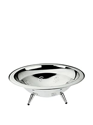 Casa Bugatti Ricciolo Fruit/Bread Bowl, Metallic