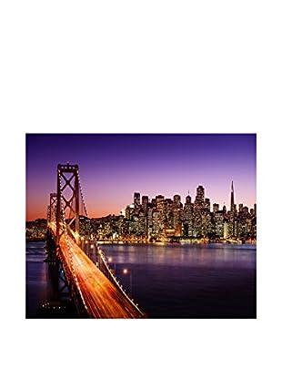 Legendarte Leinwandbild Sognando La Californa (Golden Gate Bridge)