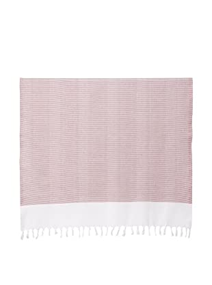 Nine Space Ayrika Collection Thin Stripe Fouta Towel (Red)