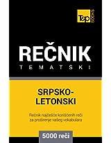Srpsko-Letonski tematski recnik - 5000 korisnih reci