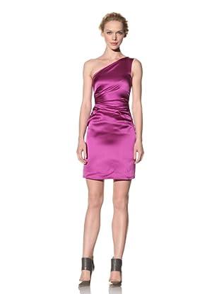 Philosophy di Alberta Ferretti Women's One-Shoulder Satin Dress (Dark Purple)