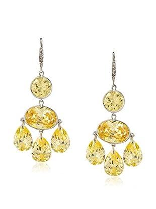 CZ by Kenneth Jay Lane Triple CZ Pears Dangle Earrings