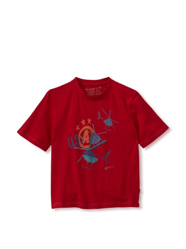 Alpha Industries Boy's Helicopter Tee (Red)