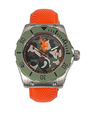 U.S. POLO ASSN. Uhr mit japanischem Quarzuhrwerk Voyager orange 46 mm