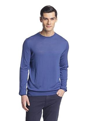 Salvatore Ferragamo Men's Crew Neck Sweater (Royal Blue)