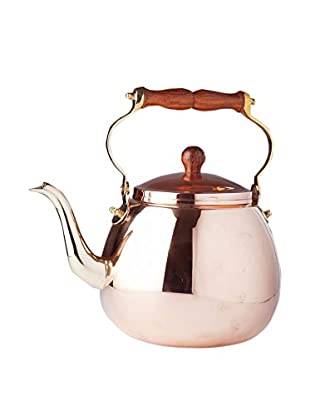 Old Dutch International Solid Copper 4-Qt. Tea Kettle with Wood Handle