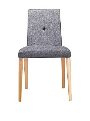 METALMOBIL Stuhl Punto 190 grau/holz
