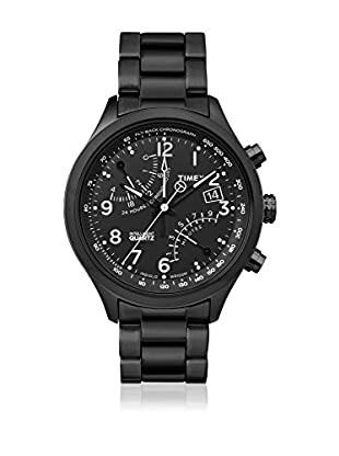 TIMEX Quarzuhr Man Intelligent IQ fly-back chrono schwarz 43 mm