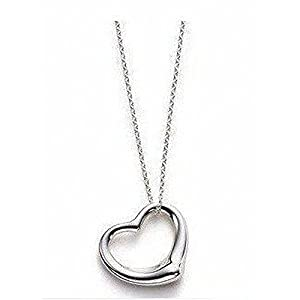 Ladies Girls Metal Heart Pendant Necklace Jewellery Silver Color Valentine Gift