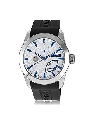 Haurex Men's 3A501UBN Magister Black/Silver Silicone Watch