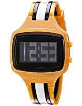 Activa By Invicta Unisex AA401-023 Black Digital Dial Mustard, Black and White Polyurethane Watch