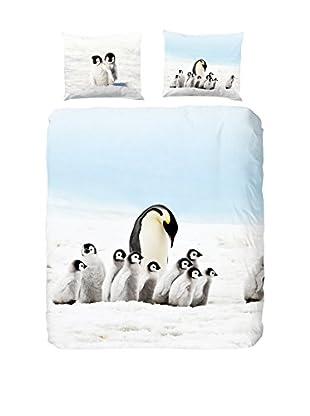 Good Morning Bettdecke und Kissenbezug Pinguins