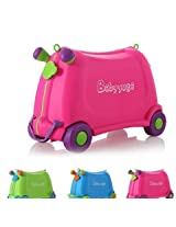 Kids Travel Luggage Portable Ride On Suitcase Pink