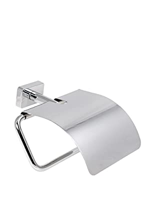 Gedy by Nameek's Minnesota Collection Wall-Mountable Toilet Paper Holder with Cover, Polished Chrome