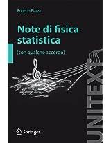Note di fisica statistica (UNITEXT)