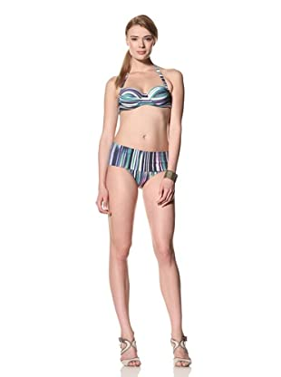 diNeila Women's Halter Neck Bikini With Brief Bottoms (Akra)
