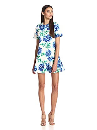 Cynthia Rowley Women's Painted Peonies Dropped-Waist Dress