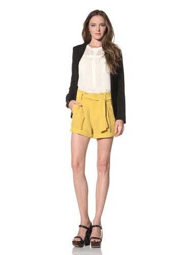 La Fee Verte Women's High Waisted Shorts (Mustard)
