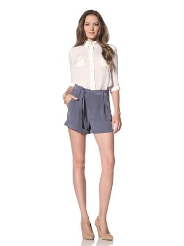 La Fee Verte Women's High Waisted Shorts (Indigo)