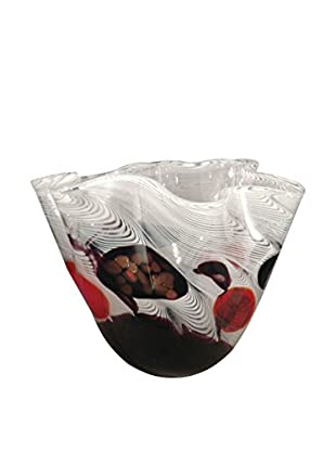 Dale Tiffany Feathers Ruffle Bowl, White Multi