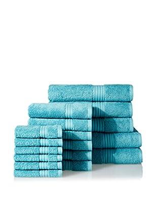 Chortex of England Hampton 17-Piece Towel Set, Jade