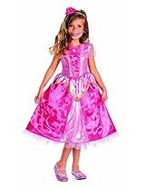 Disguise Disney's Sleeping Beauty Aurora Sparkle Deluxe Girls Costume, 3T-4T