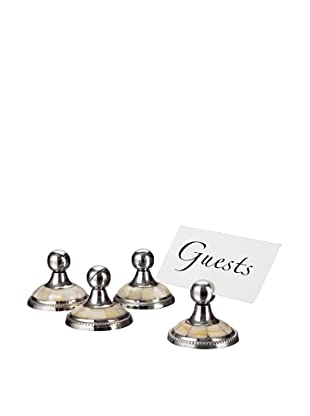 Godinger Set of 4 Mother Of Pearl Placecard Holders