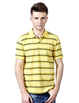 Allen Solly Striped Cotton Regular Fit Half Sleeved T-Shirt