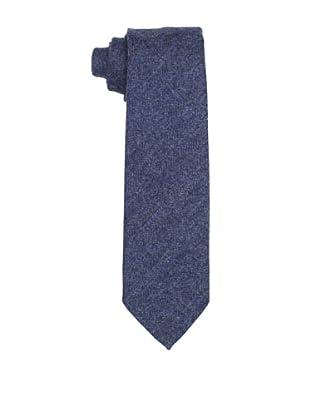Desanto Men's Herringbone Scozia Tie, Blue