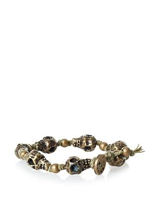 Ettika Men's Olive Skull Strand Bracelet