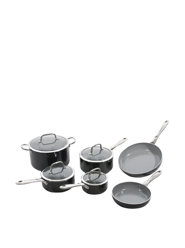 BergHOFF Boreal II 10-Piece Aluminum Nonstick Cookware Set (Black)