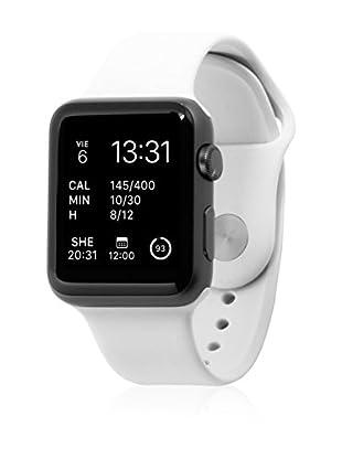 Unotec Uhrenband für Smartwatch Sport Apple Watch 42 mm weiß