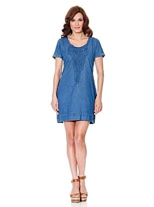 Cortefiel Kleid Denim (Blau)