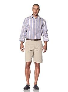 Report Collection Men's Multi-Stripe Shirt (Lilac)