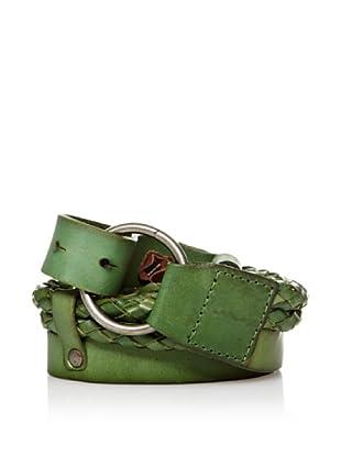 Sándalo Cinturón Tiras Trenzadas (Verde)